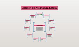 Examen de Asignatura Estatal