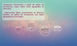 -Interpretar información a partir de tablas de frecuencias,