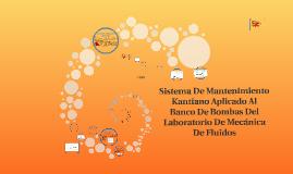 Sistema De Mantenimiento Katiano Aplicado Al a Banco De Bomb