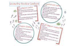 Geometry Review Center Instructions