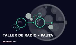 Taller Radio - Pauta.