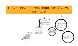 THÔNG TIN VỀ CHƯƠNG TRÌNH HỌC BỔNG VAS 2018-2019
