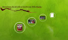 Donaciones día del niño al  Jardín 926 Villa Fiorito
