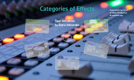 Categories of Effects