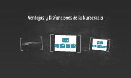 Ventajas y Disfunciones de la burocracia
