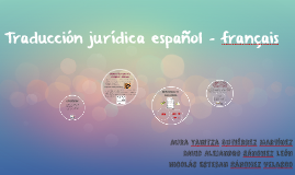 Traducción jurídica español - français