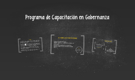 Programa de Capacitación en Gobernanza