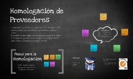 Copy of Homologación de Proveedores SGS