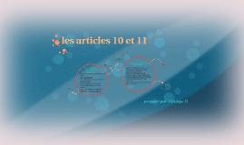 les articles 10 et 11