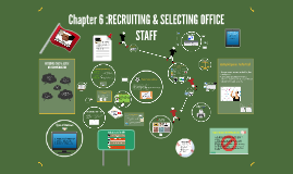Chapter 6 :RECRUITING & SELECTING OFFICE STAFF