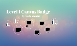 Level 1 Canvas Badge