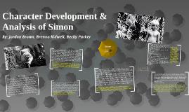 Character Development & Analysis of Simon
