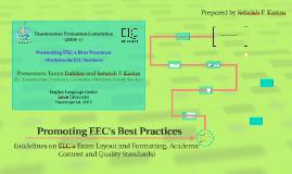 Promoting EEC's Best Practices