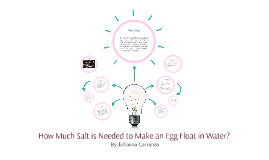How Much Salt is Needed to Make an Egg Float in Water?