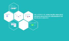 Copy of Relatório de Avaliação do PEA 2013-2014