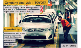 Company Analysis : TOYOTA