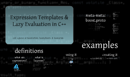 Expression Templates and Lazy Evaluation in C++