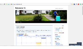 Managing Google calendar and updating blog posts to a web site