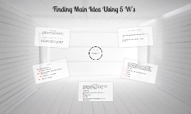 Copy of Finding Main Idea Using 5 W's