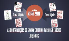 AS CONTRIBUIÇÕES DE SAVINY E IHERING PARA OS NEGÓCIOS JURÍDI