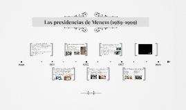 Las presidencias de Menem