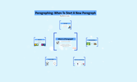 Copy of When To Start A New Paragraph (Paragraphing)