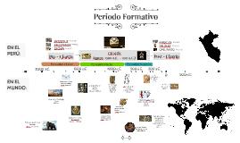 Línea del tiempo del Periodo Formativo (Horizonte Temprano)