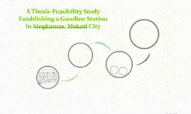 A Thesis-Feasibility Study Establishing a Gasoline Station i