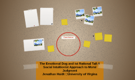 The Emotional Dog and ist Rational Tail:A Social Intuitionis