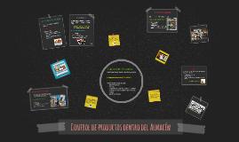 Copy of Control de productos dentro del Almacen