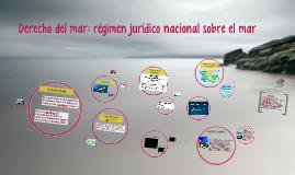 Derecho del mar: régimen jurídico nacional sobre el mar