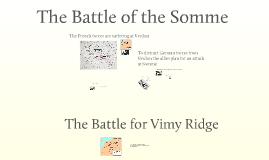 Somme and Vimy Ridge Grade 10