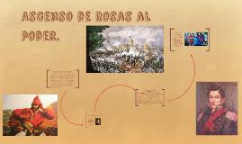 Ascenso de Rosas al poder