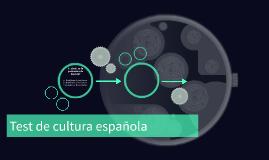 Test de cultura española