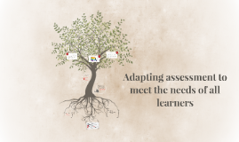 Copy of Adapting assessment to meet the needs of all learners