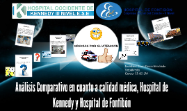 Análisis Comparativo en cuanto a calidad médica, Hospital de