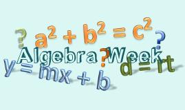 Algebra Week
