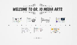 SEPT 2019 Grade 10 Media Arts