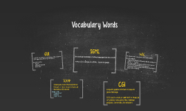 WEB VOCABULARY WORDS