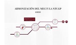 ARMONIZACIÓN MECI Y NTCGP 1000