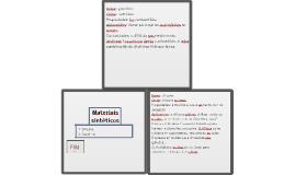 Materiais sintéticos