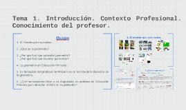 Tema 1. Introducción. Contexto Profesional. Conocimiento del