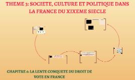 CHAPITRE 6: LA LENTE CONQUETE DU DROIT DE VOTE EN FRANCE+ CHAPITRE 7: LA TROISIEME REPUBLIQUE DE 1870 A 1914