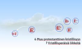 6 Muut protestanttinen kristillisyys 7 Kristillisperäisiä liikkeitä