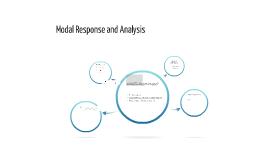 Modal Response and Analysis