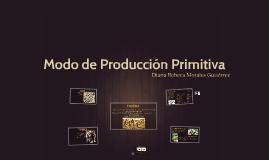 Modo de Producción Primitiva