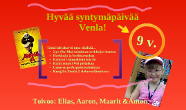 Laurin & Venlan synttärilahjakortti 2011