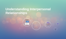 (MWF) Understanding Interpersonal Relationships