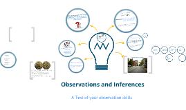 Inferences and Qualitative and Quantitative Observations